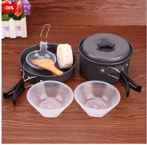 Camping Cooking Set 7PC Cookware