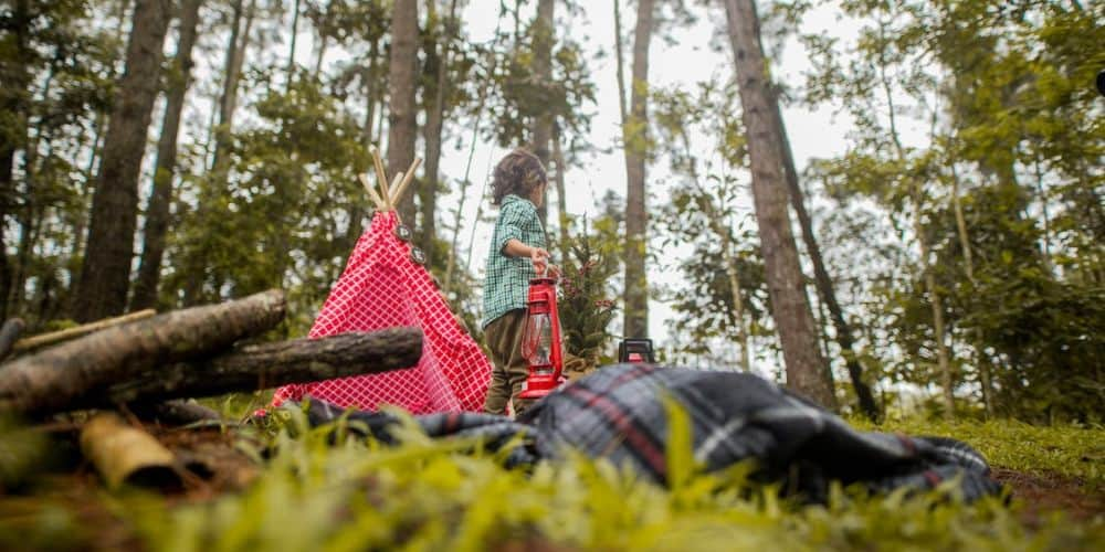 Carry camping essentials for kids