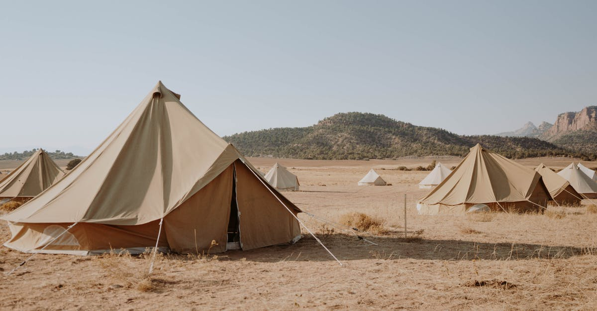 A tent in the sand